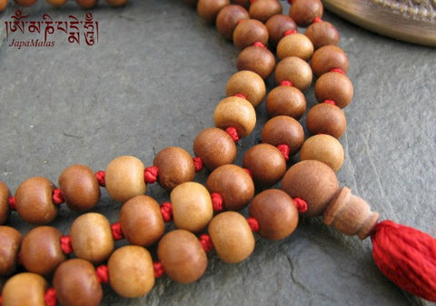 Sandalwood,Japa,Mala,108,beads,traditional,style,hand,knotted,mala,purified,&,blessed,Everything_Else,Religious,Meditation,sandalwood,japa_mala_bead,108_beads,hindu,india,buddhist_mala,meditation,yoga,zen,prayer_beads,worry_beads,tibetan_mala,sandal wood beads,holy thread,mantras,pure intention