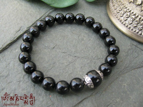 Black,onyx,Bracelet,Mala,with,tibetan,guru,bead,purified,&,blessed,mala,Jewelry,Charm_Bracelet,japa_mala,power_stone,japa_malas,japa_mala_beads,japa_mala_bead,malas,black_onyx,gemstone,reiki,meditation,yoga,energy_bracelet,mantras,pure intention