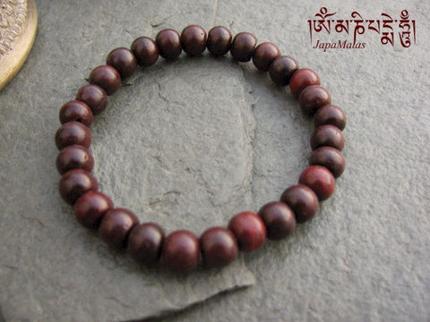 Rosewood,Bracelet,Mala,purified,&,blessed,mala,Jewelry,Beadwork,japa_mala_bead,hindu,buddhist_mala,meditation,yoga,zen,prayer_beads,worry_beads,yoga_jewelry,red_sandalwood,rosewood,christmas_in_july,sandal wood beads,holy thread,mantras,pure intention
