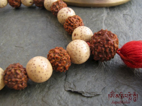 Lotus,seed,n,Rudraksha,Wrist,Mala,purified,&,blessed,mala,Jewelry,Bracelet,Beadwork,japa_mala_bead,108_beads,hindu,india,buddhist_mala,meditation,yoga,zen,prayer_beads,worry_beads,yoga_jewelry,lotus,holy thread,mantras,pure intention,rudraksha