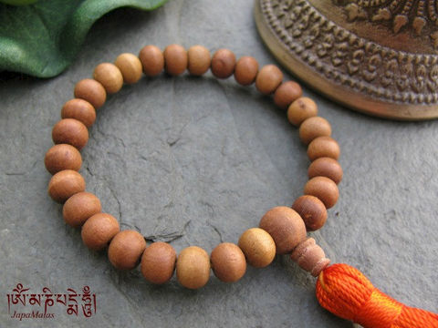 Sandalwood,Wrist,Mala,purified,&,blessed,mala,Jewelry,Bracelet,Beadwork,sandalwood,japa_mala_bead,108_beads,hindu,india,buddhist_mala,meditation,yoga,zen,prayer_beads,worry_beads,tibetan_mala,sandal wood beads,holy thread,mantras,pure intention