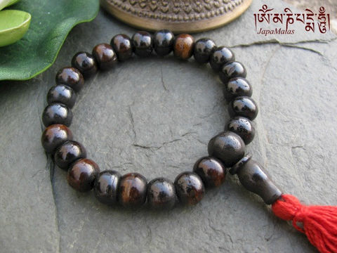 Brown,Bone,wrist,Mala,purified,&,blessed,mala,Jewelry,Bracelet,Beadwork,japa_mala_bead,buddhist_mala,meditation,yoga,zen,prayer_beads,worry_beads,buddha,tibet,buddhism,pocket_mala,christmas_in_july,holy thread,mantras,pure intention,bone