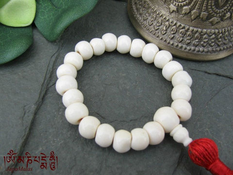 White,Bone,wrist,Mala,purified,&,blessed,mala,Jewelry,Bracelet,Beadwork,japa_mala_bead,buddhist_mala,meditation,yoga,zen,prayer_beads,worry_beads,buddha,tibet,buddhism,pocket_mala,christmas_in_july,holy thread,mantras,pure intention,bone