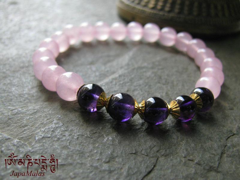 Rose Quartz Amethyst Bracelet