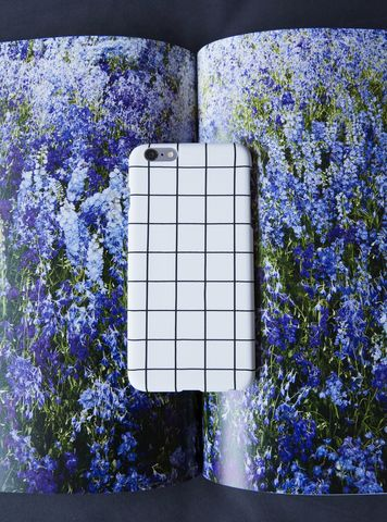 White,Grid,iPhone,Case,grid pattern phone case, iphone case, grid iphone case,