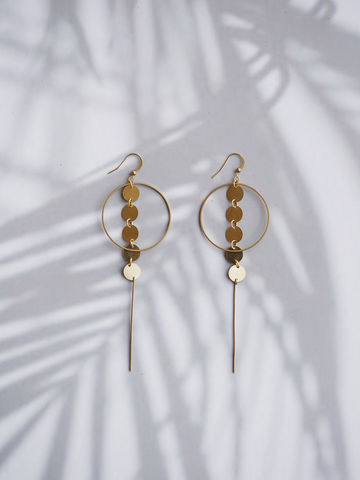 Clustered,Long,Earring,earring, gold earring, accessories, accessory