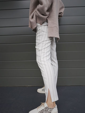 White,Stripe,Pants,white pants, stripe pants, pants, split pants