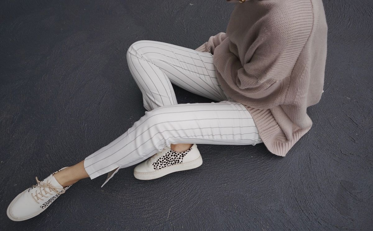 White Stripe Pants - product images  of