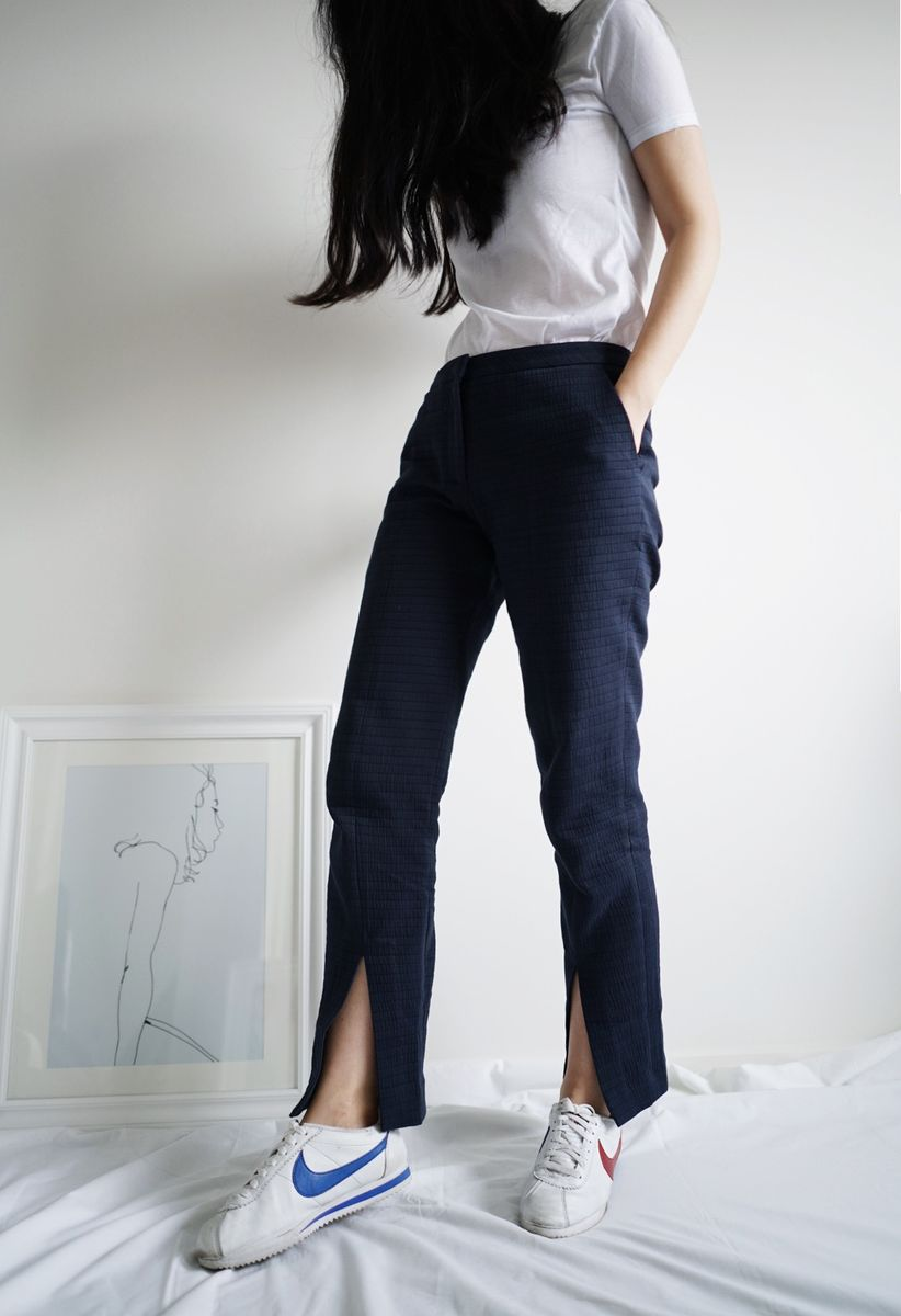 Navy Split Pants - product images  of