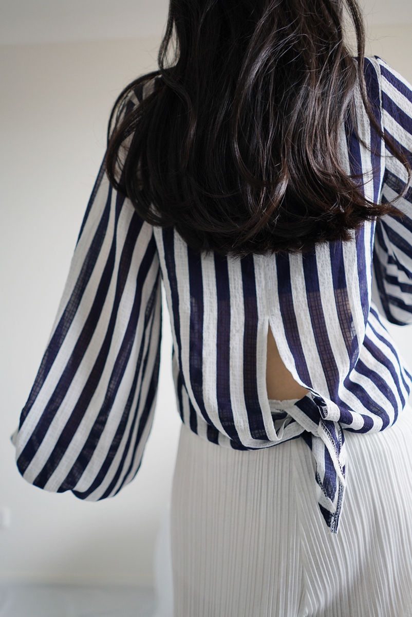 Navy Stripe Top - product images  of