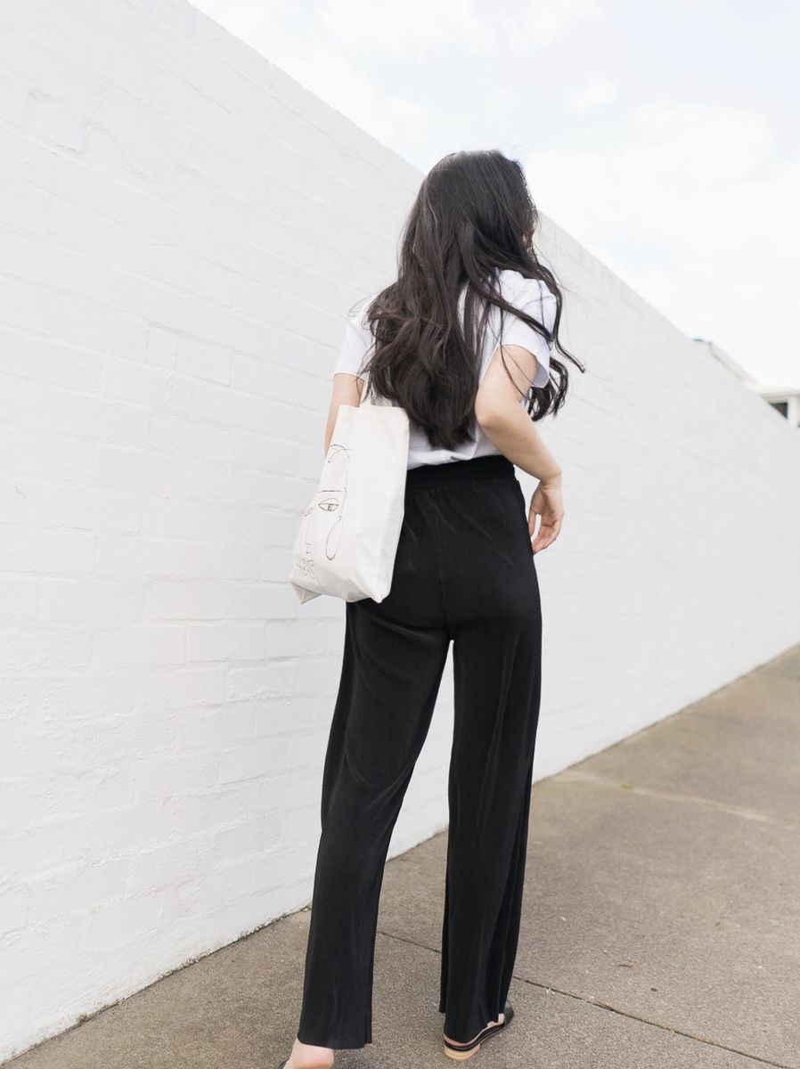 Black Pleated Culottes  - product images  of