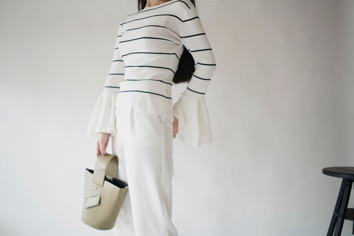 Stripe Bell Sleeve Knitwear - product images  of