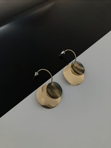 Double,Circled,Earring,circled earring, earring, double circled earring, brass earring,