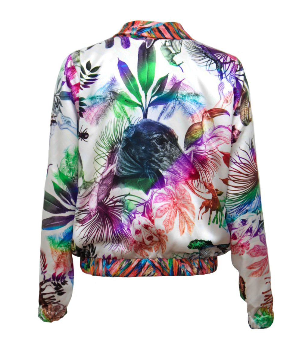 PENNY REVERSIBLE BOMBER SILK JACKET £599