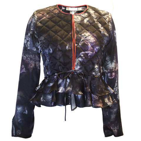 VICTORIA,SILK,PADDED,JACKET,IN,BRUISED,LACE,PRINT,evening printed jacket