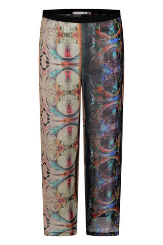CHIFFON,PANTS,IN,MARBLING,PRINT,marbeling silk chiffon sheer pants