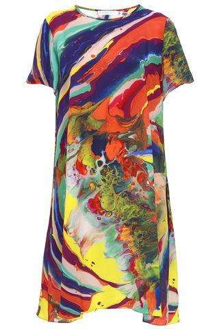 Frieda,Dress,in,Magma,print,MARBLING PRINT