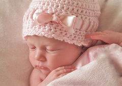 Newborn Girl Hat - product images 1 of 5