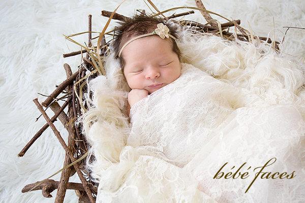 Stretch lace wrap newborn photo prop baby girl newborn wrap baby stretch