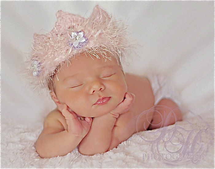 Newborn crown newborn photo prop baby girl princess costume crochet crown