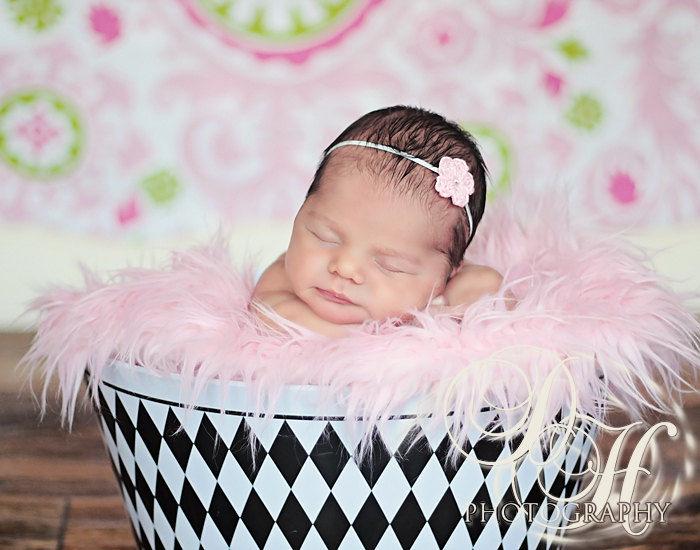 Newborn Headband Baby Girl Newborn Photo Prop Baby Grace