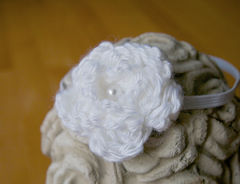 Newborn Headband, Crochet Flower Headband - product images 4 of 5