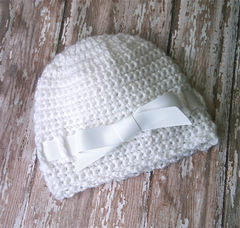 White,Newborn,Ballerina,Hat,Baby,crochet_baby_hat,newborn_hat,baby_hats,newborn_photo_prop,baby_girl,baby_girl_bow,newborn_girl,hospital_hat,crochet_baby,newborn_hospital_hat,baby_shower_gift,baby_girl_hat,white_baby_hat,premium acrylic yarn,ribbon trim