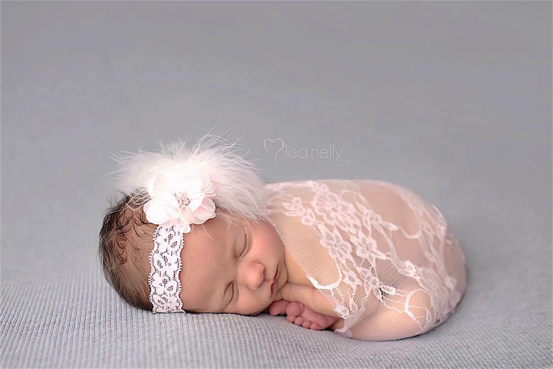 Pink Boa Headband and Lace Wrap - product image
