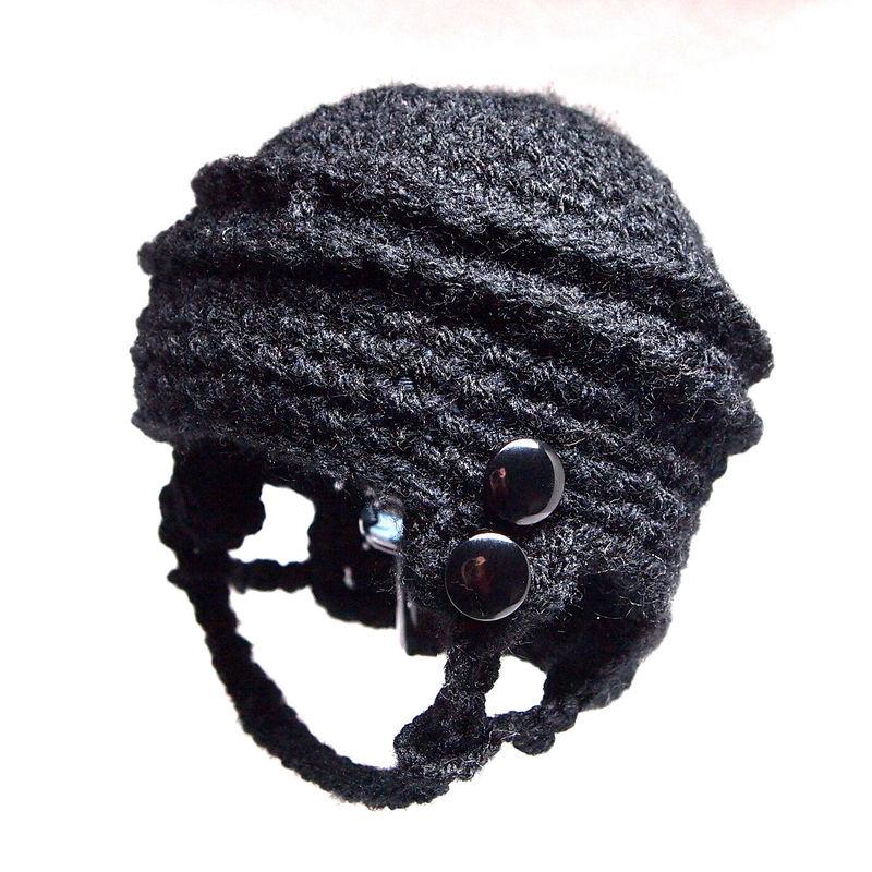 Hockey Baby Hat, Newborn Crochet - Baby Grace