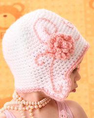 Baby Girl Flapper Hat with Flower. Newborn. - product images 4 of 4