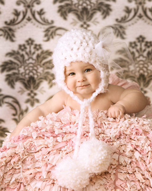 Newborn Photo Prop, Crochet Baby Hat - product images  of