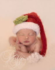 Santa,Baby,Hat,,Newborn,Christmas,Photo,Prop,baby santa hat, christmas hat, baby crochet hat, holiday stocking cap, newborn photo prop, baby christmas