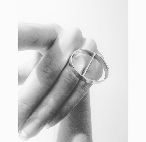 Cutter,Ring,Minimal, graphic, silver, ring