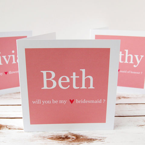 Be,my,Bridesmaid/Flowergirl,Card,Be my Bridesmaid Flowergirl Maid of Honour Card