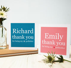 Personalised,Godparent,Thank,You,Cards,Godparent Godmother Godfather Thank You gift Card personalised