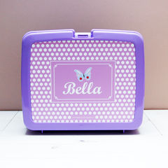 Personalised,Butterfly,Lunch,Box,Personalised Children's Packed Lunch Box Traditional Retro