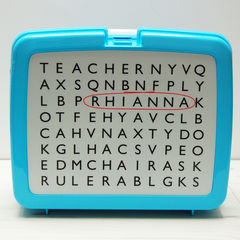 Personalised,Wordsearch,Lunch,Box,Personalised Children's Packed Lunch Box Traditional Retro