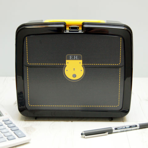 Personalised,Briefcase,Lunch,Box,Personalised Children's Packed Lunch Box Traditional Retro