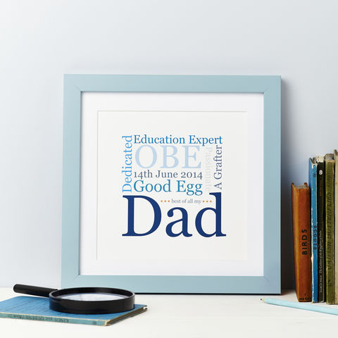 My,Dad/Daddy,Personalised,Typographic,Print,My Dad/Daddy Personalised Typographic Card