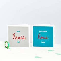 Love,My,Dad:,Personalised,Card,Fathers Day, Dad, Father, Daddy, Card, Love, Message, Gift