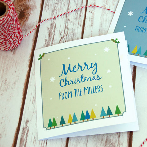 Personalised,Woodland,Christmas,Card,Woodland Personalised Christmas Cards