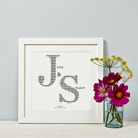 Personalised,Couple,Print,Initials,Personalised Couple Print Gift Wedding, engagement, anniversary