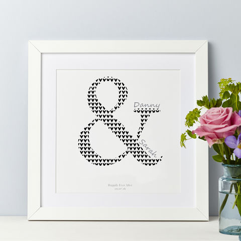 Personalised,Couple,Ampersand,Print,Personalised Couple Print Gift Wedding, engagement, anniversary