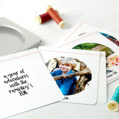 Photo,Album,Paper,Bunting:,Personalised,Bunting Personalised Photograph Album Keepsake 'Our Year' Memories