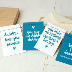 Father's,Day,Bunting,Card,Father's Day Bunting Stitched Love Card