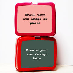 Design,Your,Own,Lunch,Box,Personalised Packed Lunch Box Traditional Any Image Photo Box