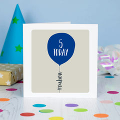 Numbered,Age,Birthday,Balloon,Card,Message, Gift, first birthday, child's birthday, special birthday age birthday