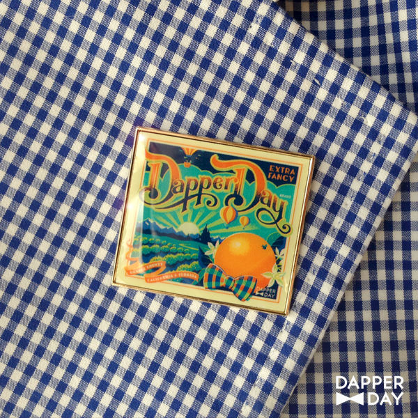 DAPPER DAY Orange Grove Lapel Pin - product images  of