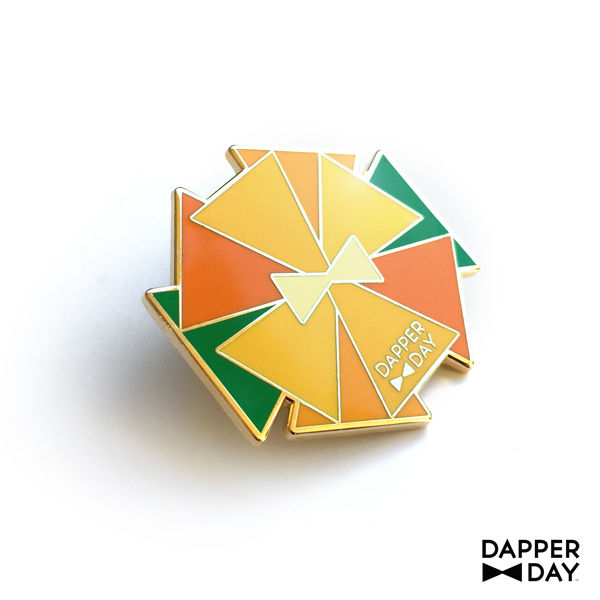 DAPPER DAY Bow Tie Flower Lapel Pin, Orange - product images  of