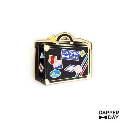 DAPPER,DAY,Luggage,Lapel,Pin,,Black,lapel pin Dapper Day